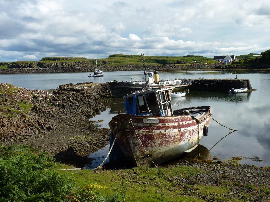 Boats, Galmisdale, Isle of Eigg