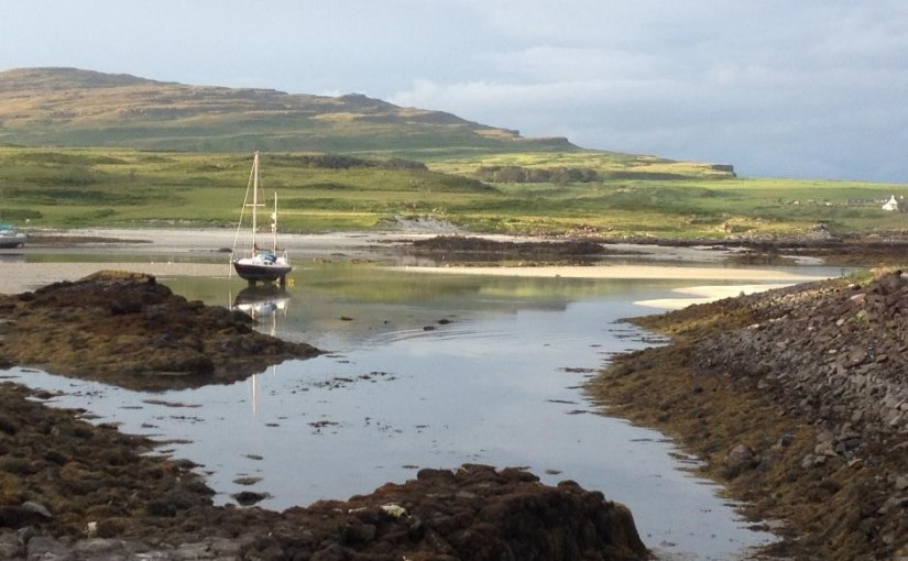 Exploring the Isle of Eigg, Inner Hebrides