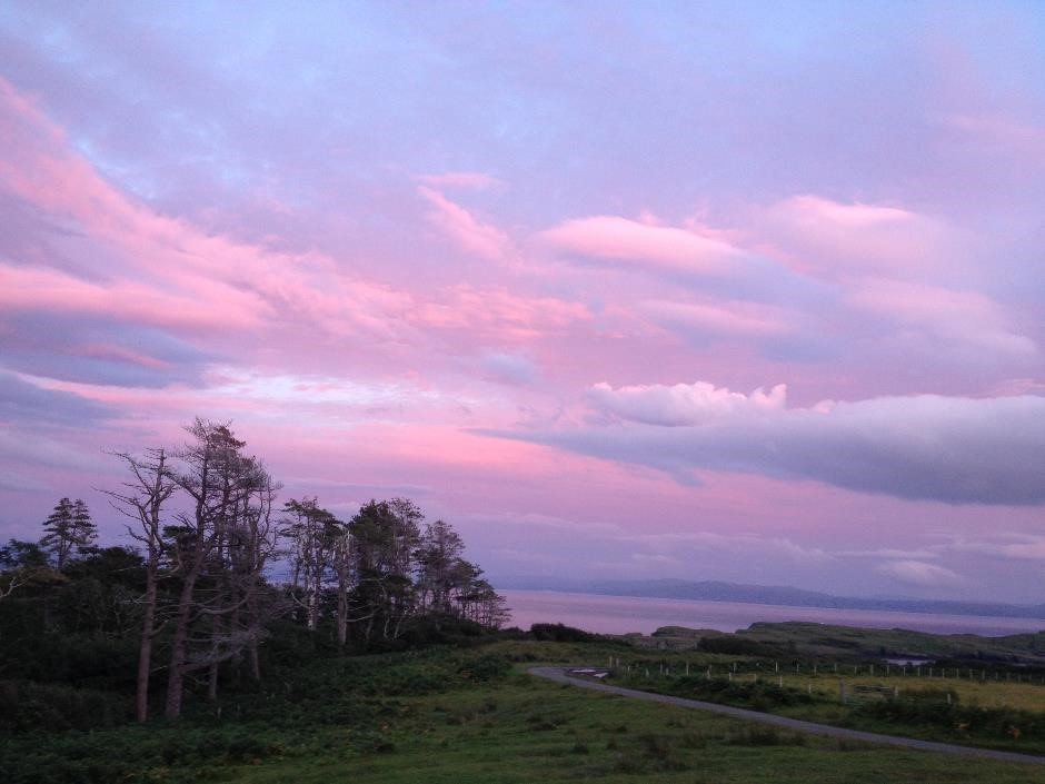 Sunset on the Isle of Eigg
