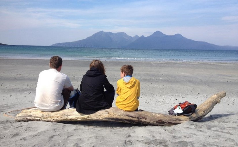 Picnic spot on Laig beach, Isle of Eigg