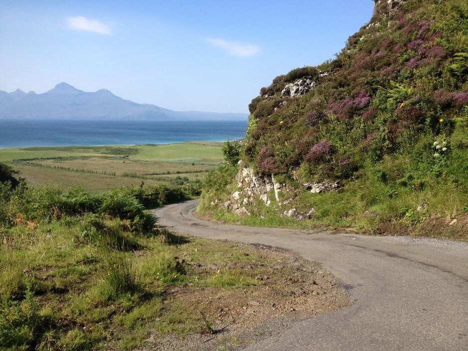 The Cleadale road, Eigg