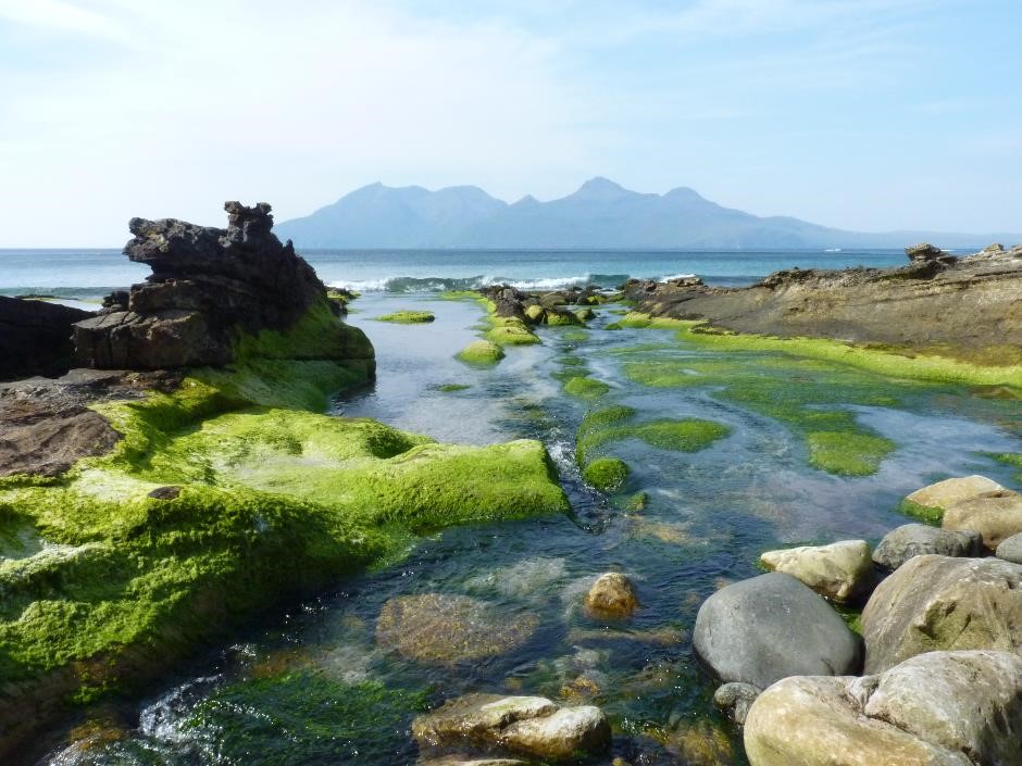 View of Rum from Laig beach, Isle of Eigg