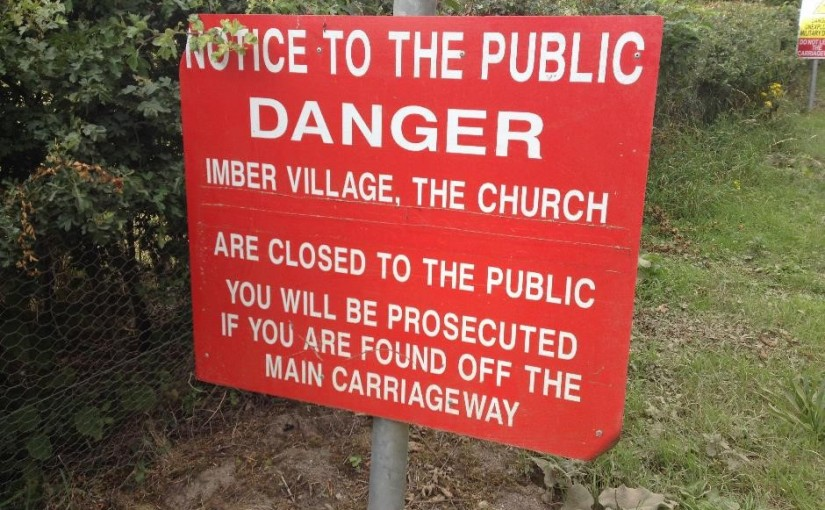 Entrance to Imber village
