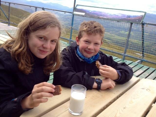 Snowgoose Bar, Glen Nevis gondola station - a cafe with a view!