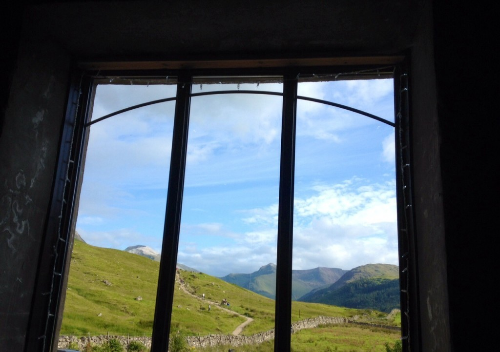 View from the Ben Nevis Inn, near Fort William