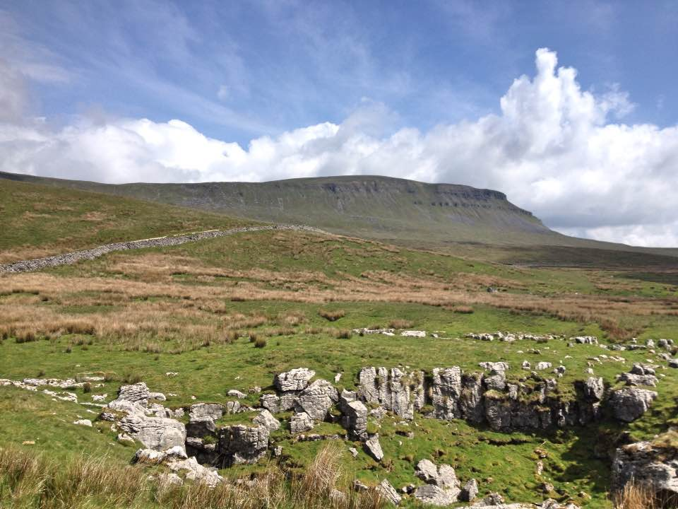 Looking back up to Pen-y-Ghent, Yorkshire