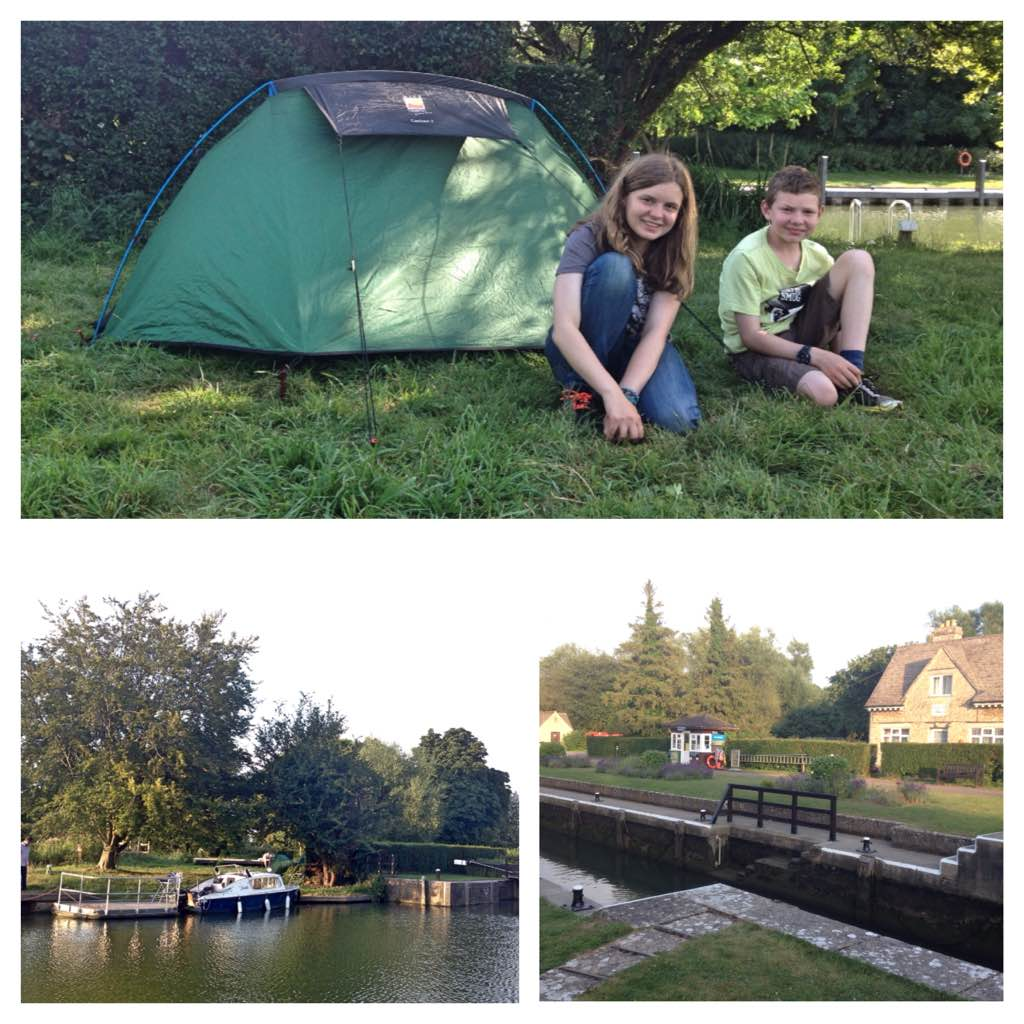 Swinford Lock campsite, Eynsham