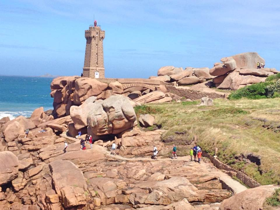 Pink granite coast, near Perros-Guirec