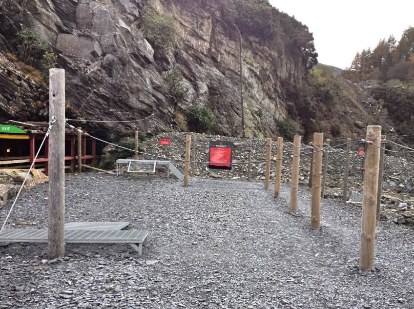 Outdoor training area at Zip World Caverns