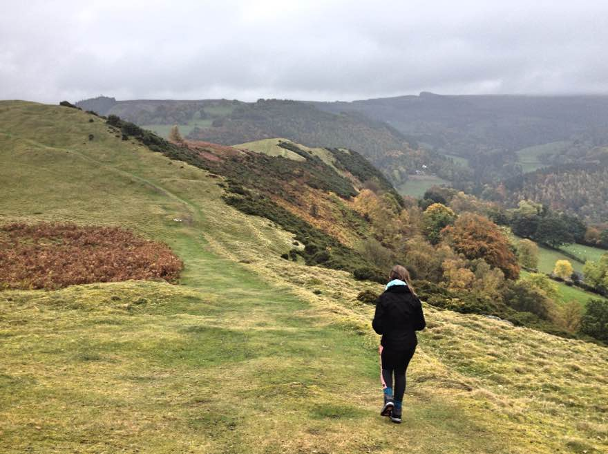 Walking Velvet Hill, near Llangollen