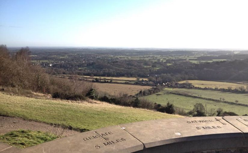 A winter walk up Box Hill, Surrey