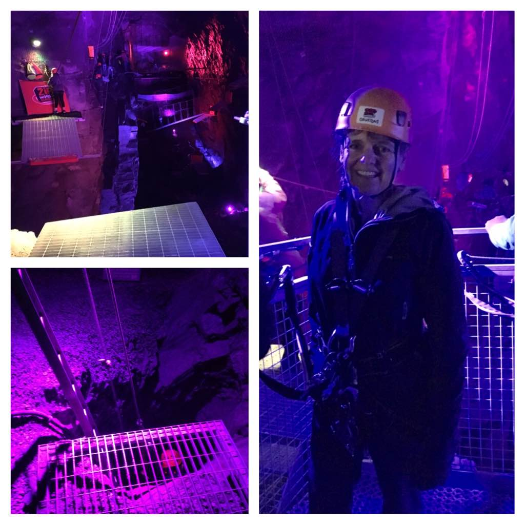 Inside Zip World Caverns