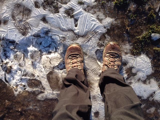 Icy feet!