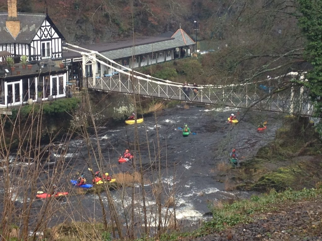 Kayakers on the River Dee, Llangollen