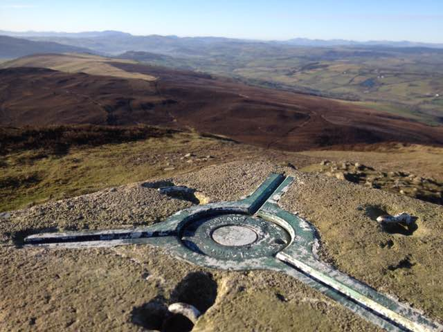 View from the trig point on Moel Morfydd