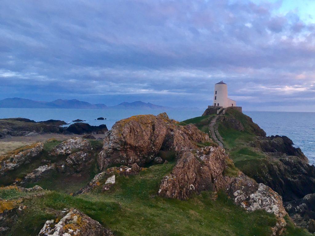 Tŵr Mawr lighthouse on Llanddwyn Island, Anglesey
