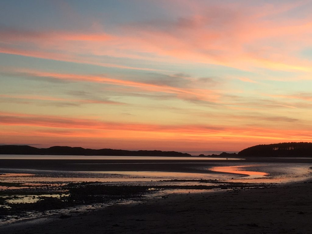 Newborough beach sunset, Anglesey