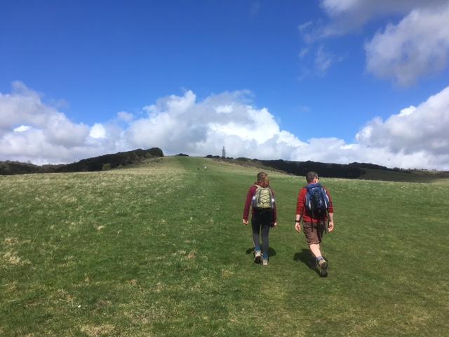 Climbing Butser Hill, Queen Elizabeth Country Park