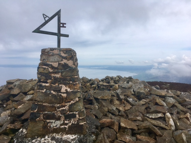 Trig point on Yr Eifl