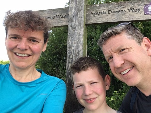 The start of our fourth day on the South Downs Way