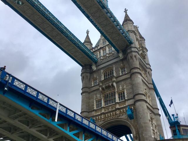 Under the Tower bridge, London