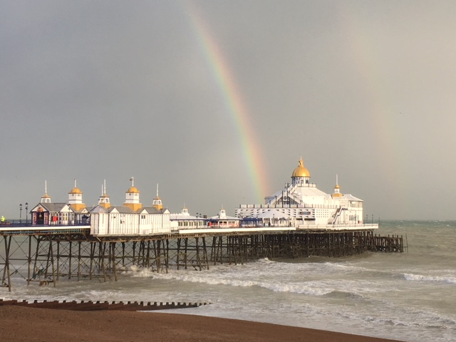 Rainbow over Eastbourne Pier