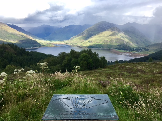 View over Loch Duich and the Five Sisters of Kintail from Bealach Ratagan