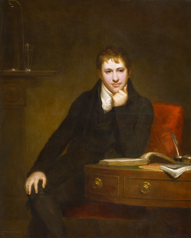 Sir Humphry Davy, Bt by Henry Howard oil on canvas, 1803 NPG 4591 © National Portrait Gallery, London