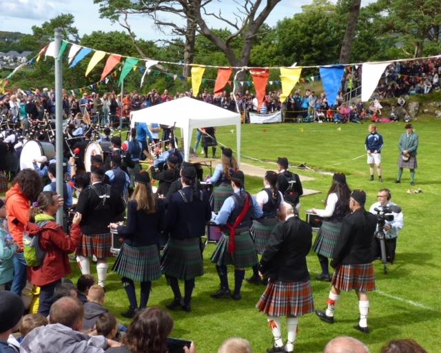 Band at the Skye Highland Games