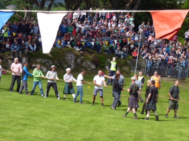 Tug of war at the Skye Highland Games