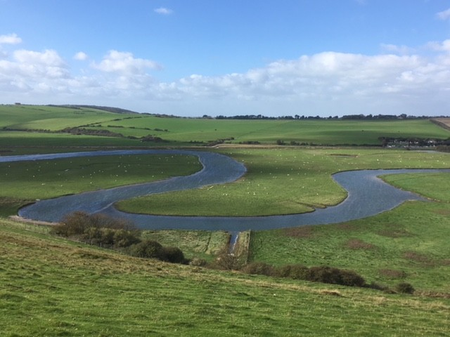 River meander, Cuckmere Haven