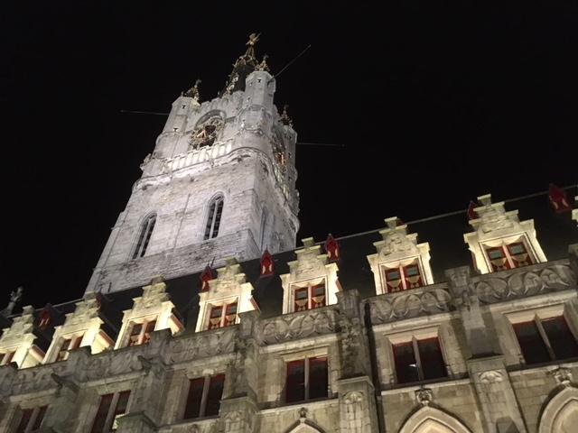 Ghent belfry at night