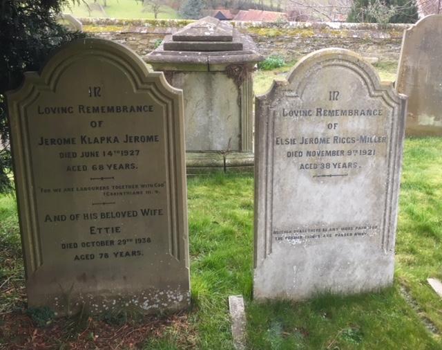 Jerome K. Jerome's grave, Ewelme