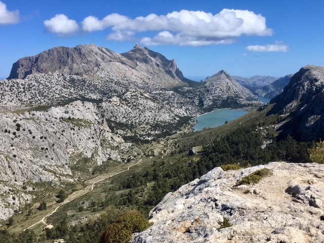 View from summit of L'Ofre, Majorca