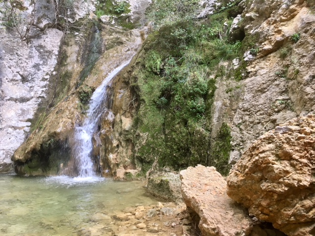 Waterfall, near GR221, Cami d'es Barranc