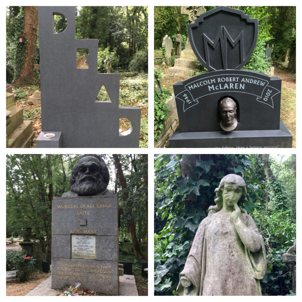 Gravestones in East Highgate cemetery