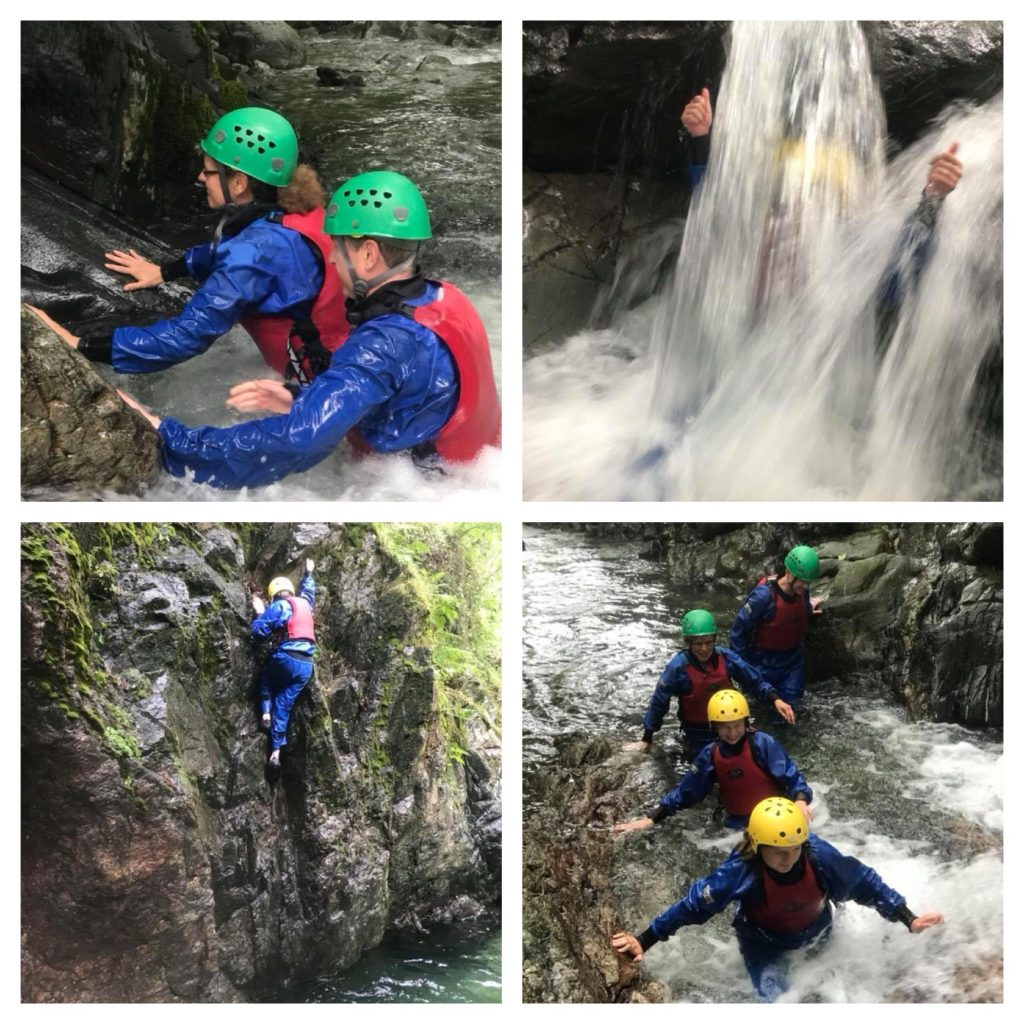 Gorge scrambling - photos courtesy of Adventure 21