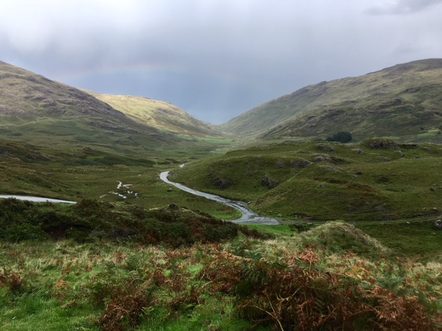 View across Wrynose Pass