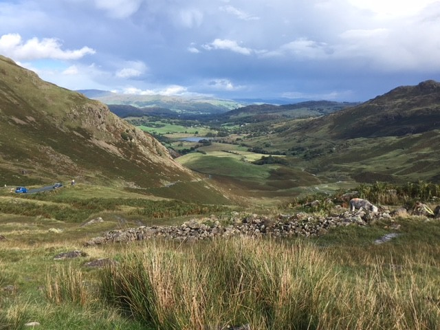 View from Wrynose Pass
