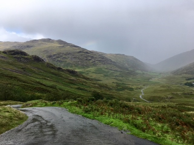 View from Hardknott over Wrynose Pass