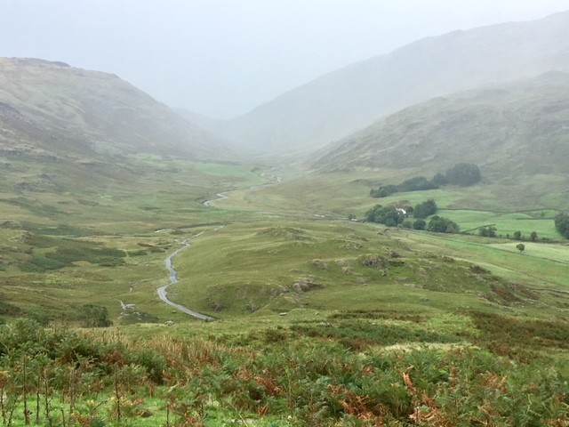 View over Hardknott Pass