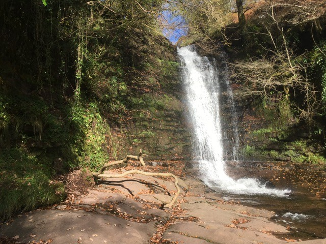 Caerfanell waterfall, near Talybont-on-Usk