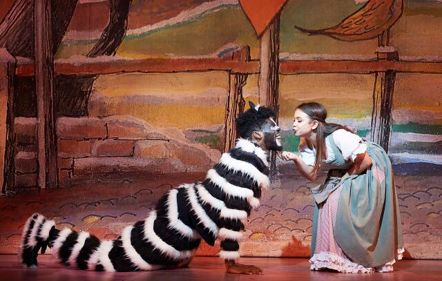 Cat and Alice, Dick Whittington. Photo courtesy of Oxford Playhouse.