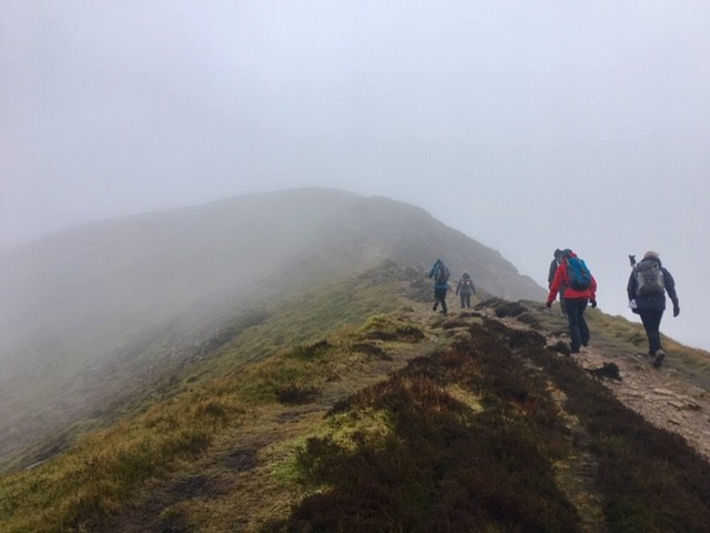 Into the mist on Crag Hill