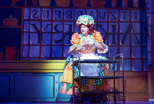Sarah the Cook, Dick Whittington. Photo courtesy of Oxford Playhouse.