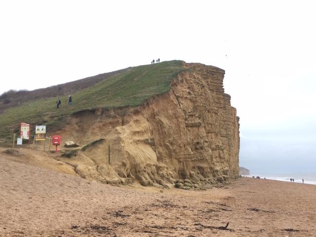 Cliffs at Bridport, Dorset coast