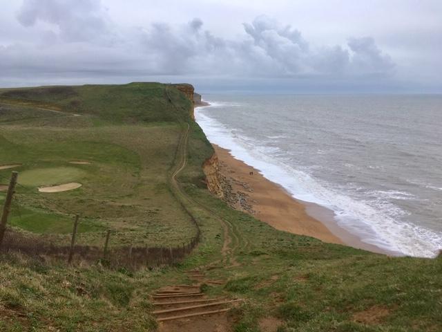 Cliff walk near Bridport, Dorset coast