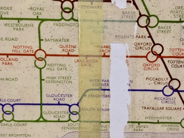 Underground map, Aldwych station