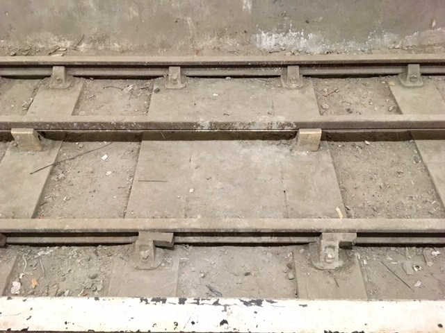 Rails at Aldwych underground station