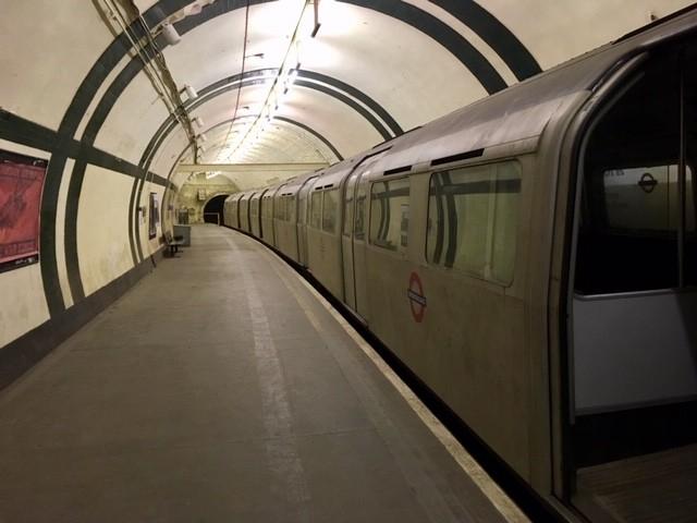 Western platform, Aldwych underground station